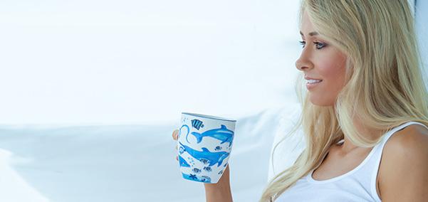 dinette drinking tea