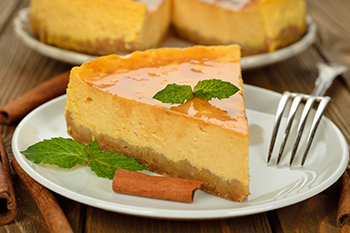 slice pumpkin Cheesecake