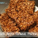 Chocolate Apple Protein Bars