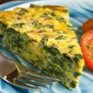 WARM EGG WHITE & SPINACH QUICHE