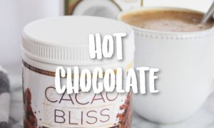 cacao bliss package and hot chocolate