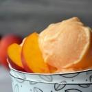 5-Minute Creamy Peach Frozen Yogurt