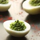 Skinny Guacamole Deviled Eggs