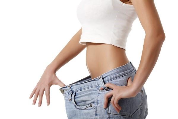 Slim woman after diet.