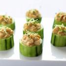 Easy Cucumber Hummus Bites