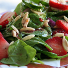 Spinach and Strawberry Salad with Pomegranate Vinaigrette
