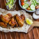 Zesty Baked Lime Wings