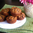 Super Healthy Banana Oat Flax Muffins