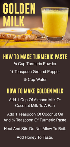 how to make golden milk recipe