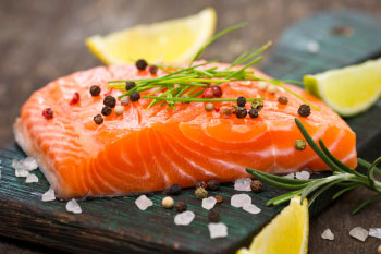 salmon capers lemon omega 3 lowers anxiety