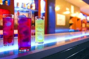3 drinks on bar