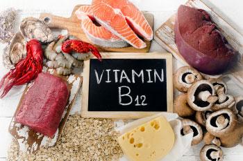 red meat salmon cheese mushrooms b12
