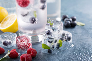 fresh fruit drink gallon water daily