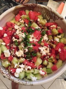 Winning watermelon salad summer recipe