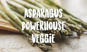 asparagus on wood table