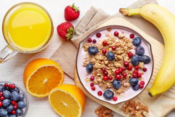 healthy breakfast yogurt berries and fruit create morning ritual