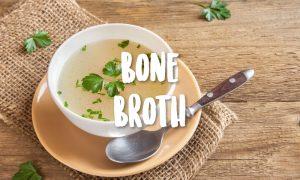 bone broth with parsley