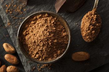 cacao powder release feel good hormones endorphins