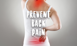 Woman having a back pain