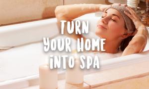 woman bath home spa