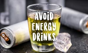 energy drink shot glass reasons avoid