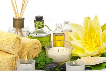 candles essential oils home spa