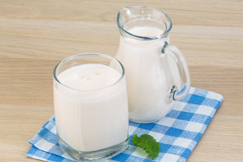 glass pitcher blue tablecloth kefir recipe health benefits