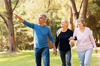 family walking boost energy