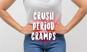 woman feel menstrual period cramp pain