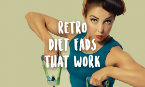 fit strong retro woman old school exercise weight loss