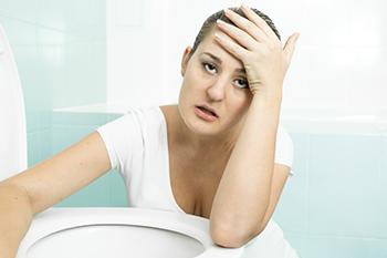 dizzy vomiting woman in white diet pills