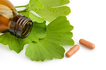 natural vertigo remedy gingko biloba medicine bottle capsules leaf