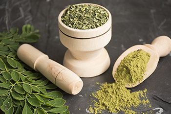 moringa leaf powder mortar and pestle