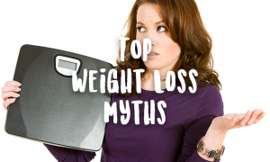 frustrated woman at weight loss myths