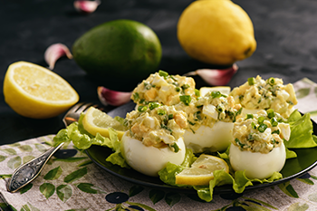 protein-filled deviled eggs healthy snack to go