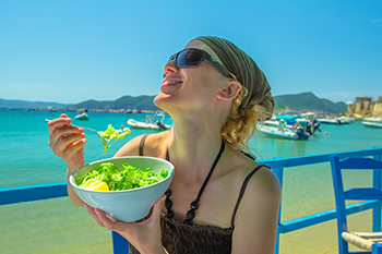 lessons healthiest cities eating salad greece