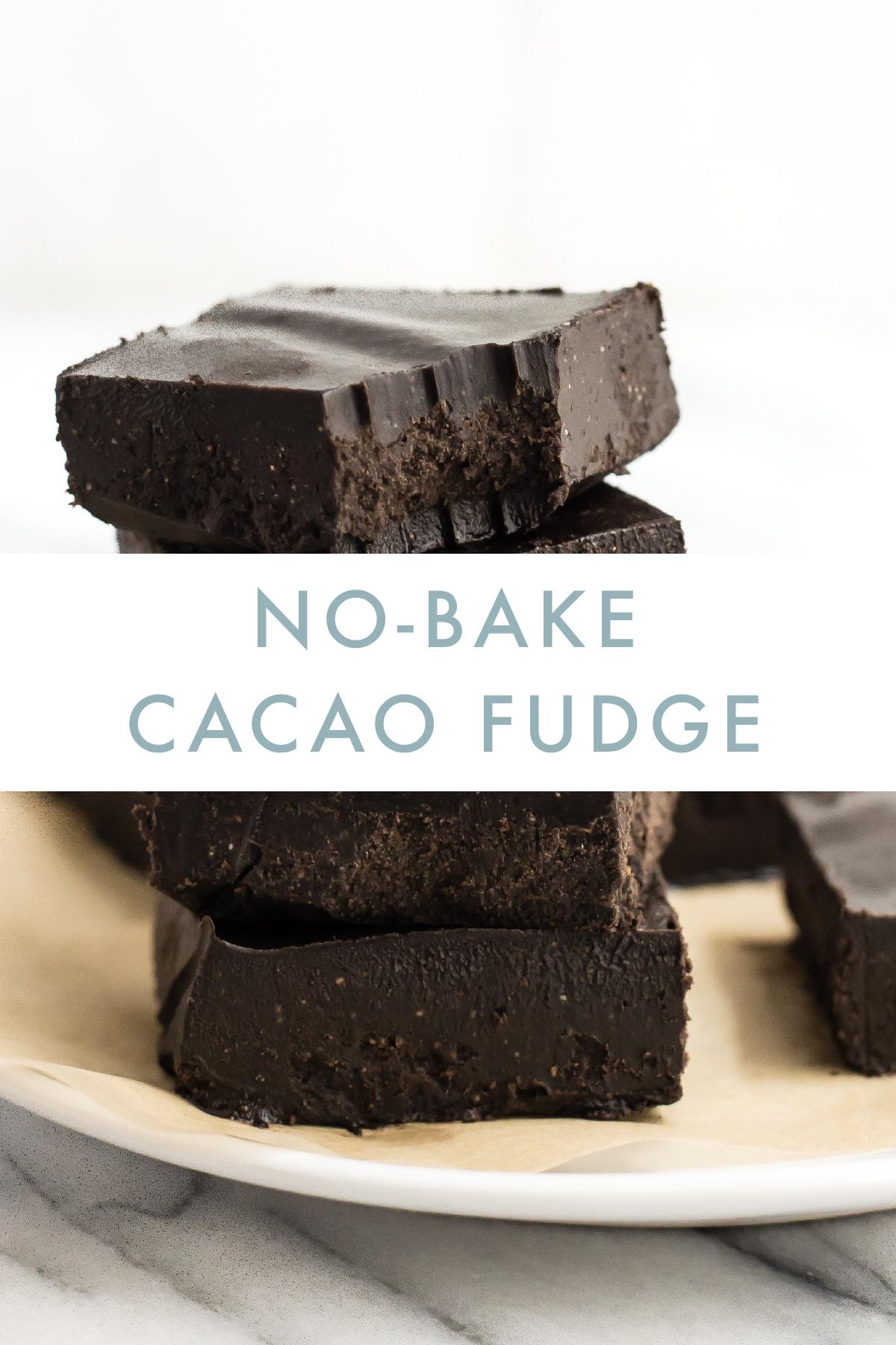 Danette May No Bake Cacao Fudge