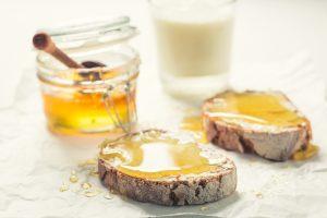 honey on bread