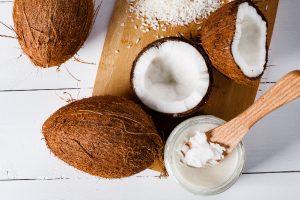 coconut oil in coconut