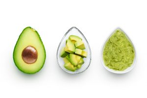 avocado on white table