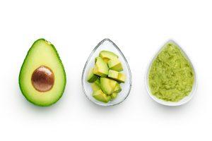 avocado on white table