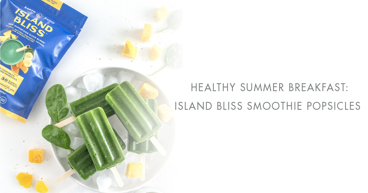 Island Bliss Breakfast Smoothie Popsicles